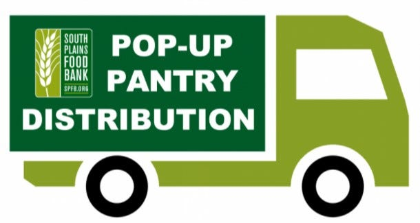 South Plains Food Bank is hosting pop-up pantries this month.