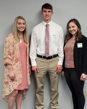 Left to right: Ryann Zimmerman, William Hensley and Grace Murphy