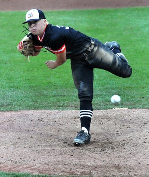 Derek Clark of Summerfield pitches during the Division 4 state finals in 2019. Clark, now a freshman at Northwood University, earned wins in his first two collegiate starts.