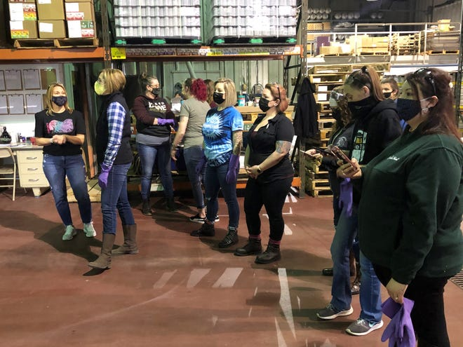 Several women in the local craft brewing industry, brought together by organizer Kim Porter (far left) of Naked Dove Brewing, got together Monday to make a special beer to help the Sexual Assault Forensic Examiner programs, or SAFE, at UR Medicine Thompson Hospital in Canandaigua and Rochester General Hospital.