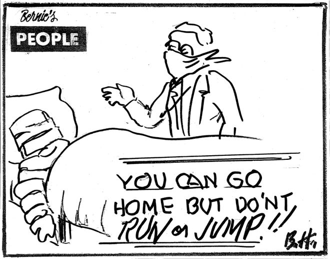 Bernie the Cartoonist Hurlbut of Rome, NY reveals his reflections on modern life in his Bernie's People series.