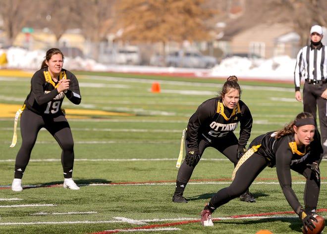 The Ottawa University women's flag football team lost 20-6 to Florida Saturday at AdventHealth Field.
