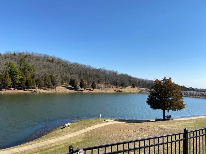Lake Cap Bedell in Van Buren, pictured March 8, 2021, could be a good place to get some exercise this week. The weather outlook for Van Buren is expected to have highs in the 60s to 70s with possible thunderstorms rolling in this weekend.