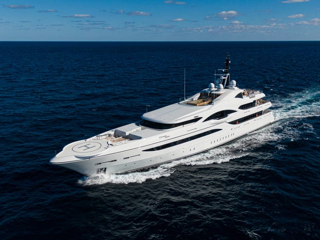 The 238-foot Quantum of Solace by Turquoise Yachts was refit in 2020.