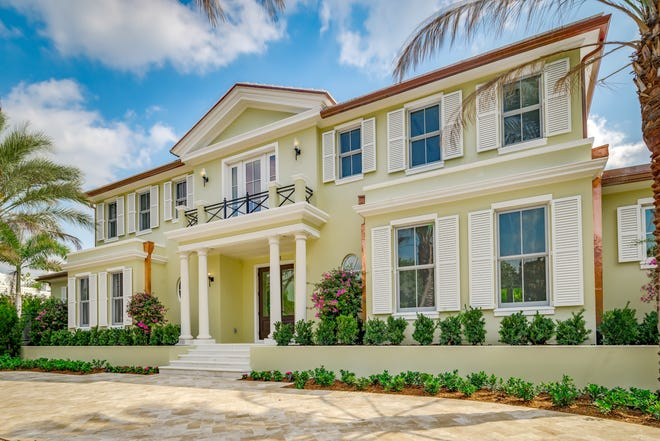 A new traditional-style house at 1575 N. Lake Way near the inlet in Palm Beach has sold for a recorded $8.478 million.