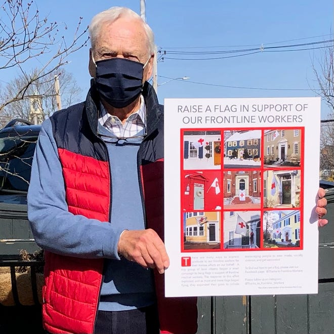 Bob Hassold, the retired former owner of Tugboat Alley, has committed to taking a poster to every hospital and long-term facility on the Seacoast