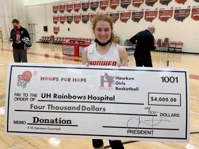 Auroran Carmen Courtad, a sophomore at Hawken School, organized a drive that raised $4,000 for UH Rainbow Babies & Children's Hospital.