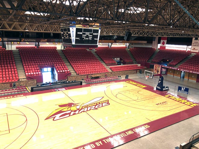 An empty Canton Memorial Civic Center soon after the Canton Charge's 2019-20 season was shut down because of the coronavirus.