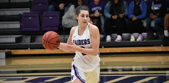 Mount Union's Elena Rauhe led the Ohio Athletic Conference in steals per game this season.