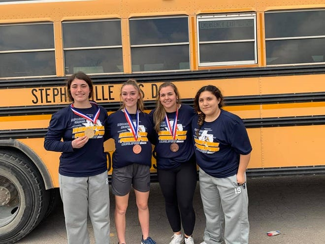 The Stephenville High School girls powerlifting team competed this past weekend at regionals. Top honors for SHS went to Ariana Rosati-Floyd, first; Amiah Rodriguez, third; and Lila Richards and Maddie Durant, who each placed fourth in their respective class.