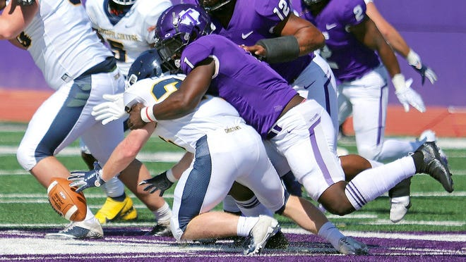 Ronnell Wilson, shown here against Mississippi College last season, had a big day against New Mexico Highlands last week in Stephenville.