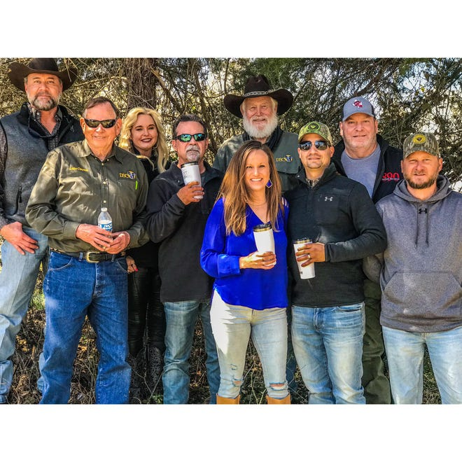 Some of the fine folks at the second Outdoor Ron de Voux in Greenville, Texas. This is the TRHP Outdoors 'family' that worked together to develop and produce a fine line of outdoor products.