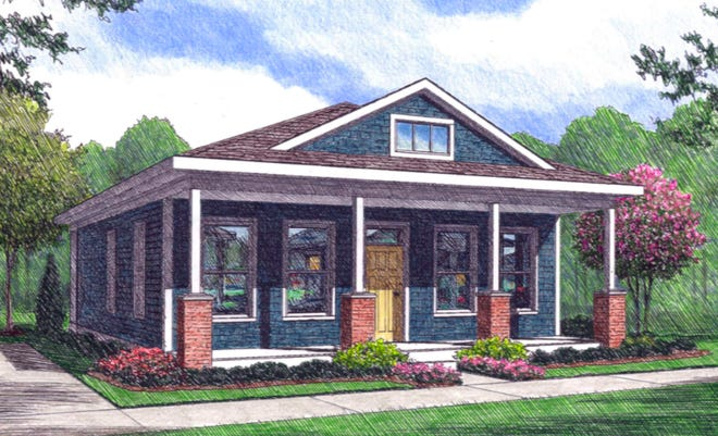 A rendering of a cottage in the Heartsease community.
