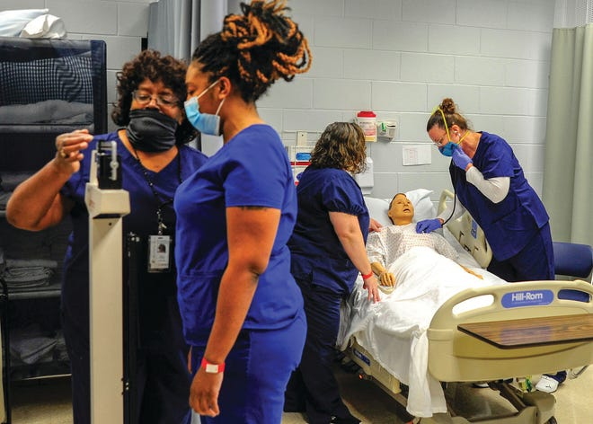 Pamlico Community College will offer another section of its popular Nurse Aide I course beginning Tuesday, March 16, at the Grantsboro campus. The course will meet evenings on Tuesdays and Thursdays from 5:30 to 9:30 p.m. Other PCC short-term health care courses slated to begin soon include Medication Aide and Medical Coding. For more information about enrolling in these classes, please contact Lori Giles, PCC's chair of Continuing Education and Technical Programs, at 252-249-1851, ext. 3015, or lgiles@pamlicocc.edu. [CONTRIBUTED PHOTO]