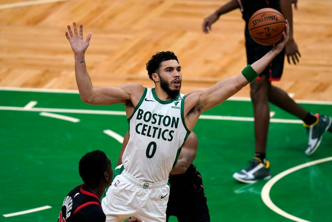 Boston Celtics forward Jayson Tatum has gotten little rest in the first half of the season, averaging 35.8 minutes per game.
