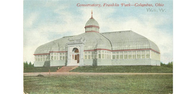 """Franklin Park Conservatory, 1777 E. Broad St. in Columbus, opened to the public Feb. 17, 1897, with 40,000 plants on display and every color of the rainbow represented. An article in The Columbus Dispatch declared the display """"equal and in some instances surpassing public conservatories of larger cities."""" Special attractions included a philodendron, azaleas and a rubber tree. The Franklin Park Conservatory and Botanical Gardens is open 10 a.m. to 5 p.m. daily."""