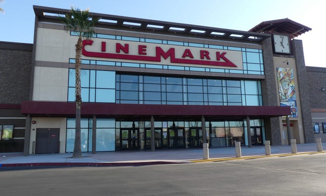 The Cinemark Jess Ranch movie theater in Apple Valley in March 2020.
