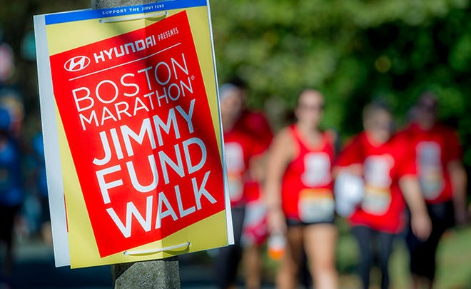 The Boston Marathon Jimmy Fund Walk will take place on Oct. 3, with walkers choosing their own routes as they raise money to help those with cancer.