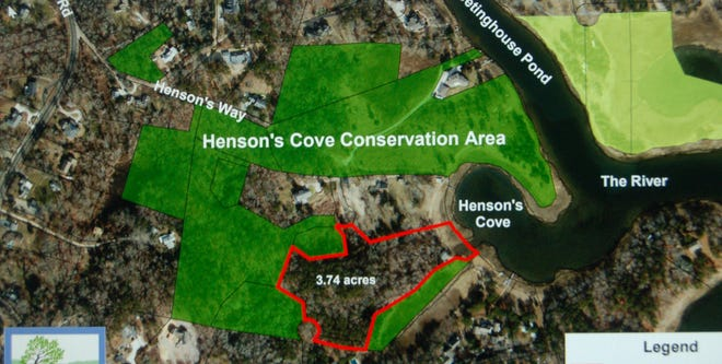The parcel would connect with 19 acres off Henson's Way linking a horseshoe-shaped necklace across 11 properties bought by the OCT over the last 40 years.