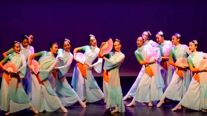 A videotaped spring dance included in the Wellesley Chinese Language School's gala.