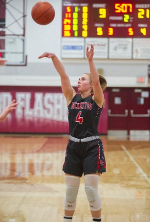 Buckeye Central's Claudia Pifher shoots a 3-pointer.
