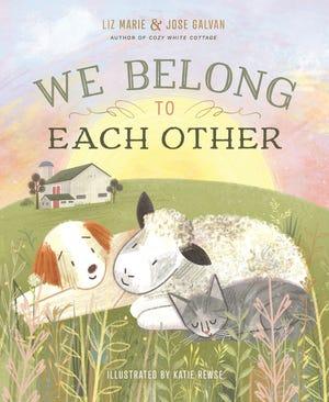 """""""Kami Milik Satu Sama Lain"""" oleh Liz Marie dan Jose Galvan berkisah tentang seekor domba yang menemukan rumahnya dan keluarganya dengan banyak makhluk lainnya."""