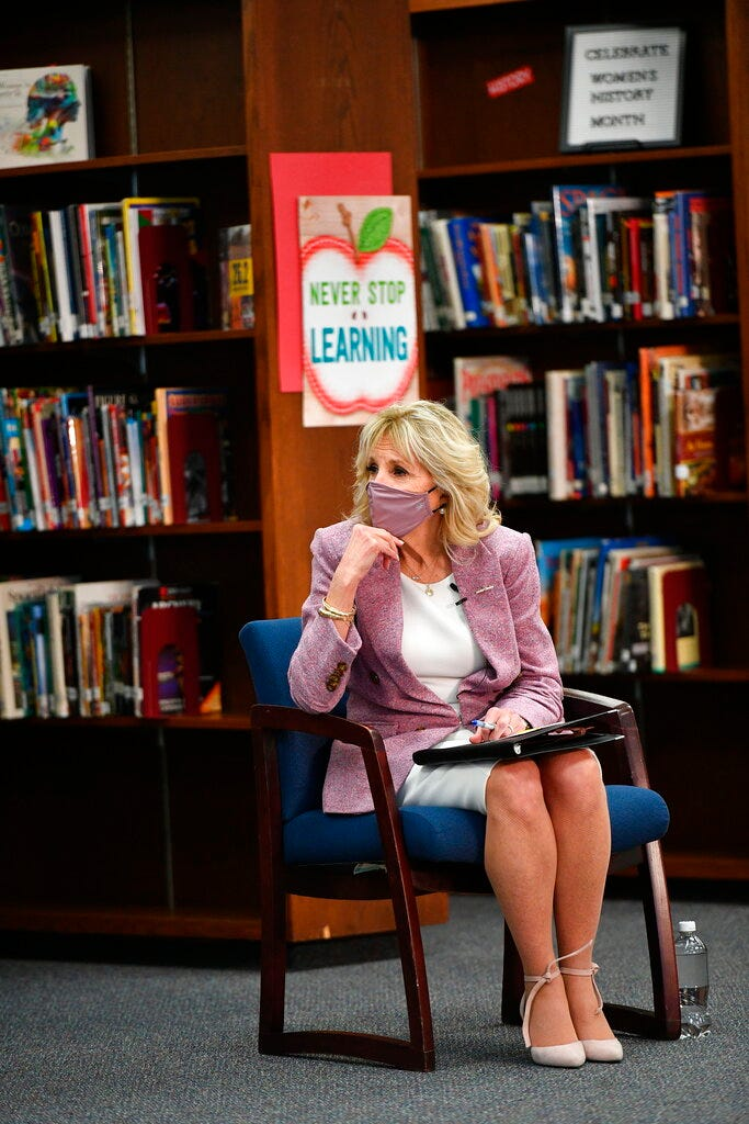 Jill Biden sees teachable moment in the depths of a pandemic 2