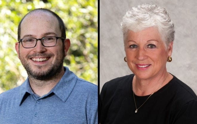 Candidates for the Fort Collins City Council District 1 seat, from left, Nick Armstrong and Susan Gutowsky