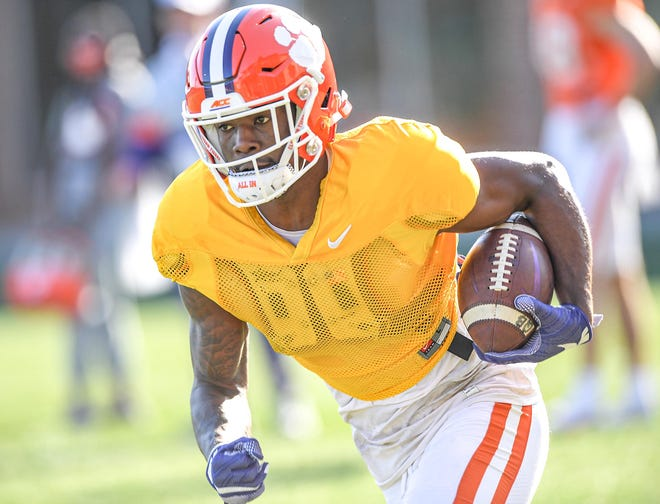 Clemson wide receiver Justyn Ross no longer has to wear  a yellow jersey, which signifies no contact allowed.