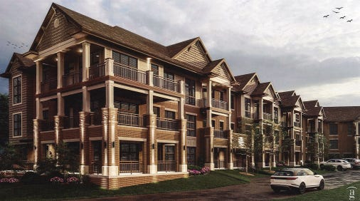 A new 56-unit apartment building will replace one damaged by a 2019 fire at White Oaks Apartments in Bayside.