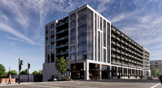 The Nova apartment development is planned for a downtown Milwaukee site at North Van Buren Street and East Juneau Avenue.