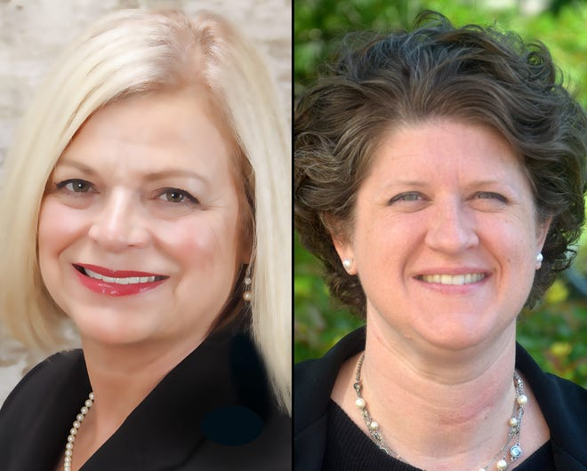 Wisconsin state school superintendent candidates, Deb Kerr and Jill Underly