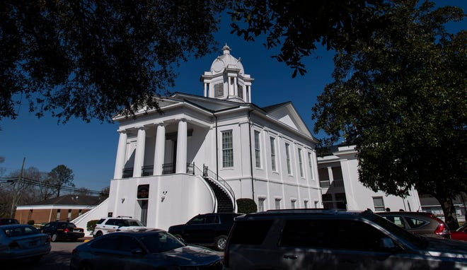 The Lowndes County Courthouse in Hayneville, Ala., on Monday March 8, 2021.