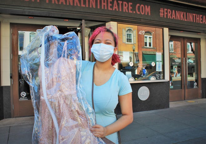 Stephanie Shepherd is a senior at Franklin High School. Shepherd stopped by Operation Fairy Godmother at the Franklin Theater on Saturday, March 6, 2021, to shop for a dress after hearing that her JROTC MIlitary Ball would still be happening in April.