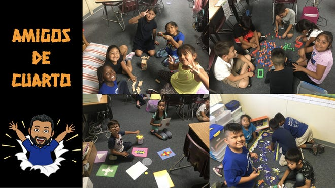 """""""Reading Buddies"""" from last year's second and fourth graders in Dual Immersion Language Academy."""