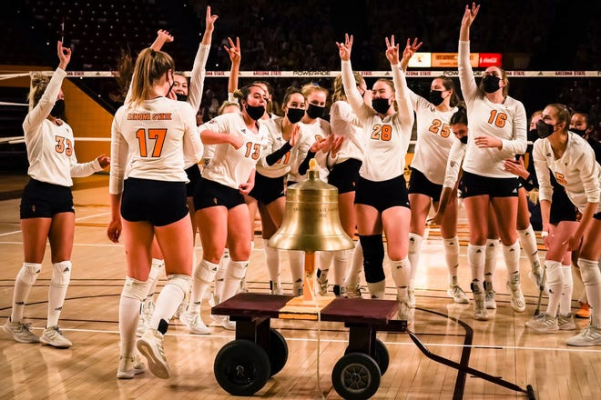 ASU volleyball rallied from a two-set deficit to win 3-2 over Arizona on Sunday. The Sun Devils ended a 10-match losing streak.