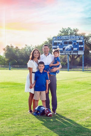 Former San Angelo Lake View assistant coach Jason Reynolds and his wife Valarie, who played high school volleyball at San Angelo Central and who coached volleyball at Lake View, are making a move from Natalia to Wichita Falls where Reynolds has accepted a position as offensive coordinator for the Wichita Falls High football team.