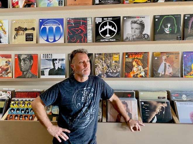Johnny Robertson opened Warbonnet Records on December 1, 2020 at 3401 Kemp Blvd - Suite M. The record shop is open from 11 a.m. to 7 p.m. Tuesday through Saturday, and their phone is (940) 217-9814, and website is warbonnetrecords.com
