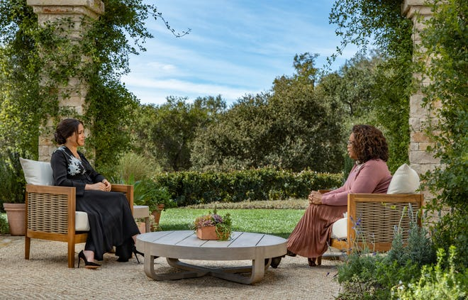 Oprah Winfrey and  Meghan Markle on March 5, 2021.
