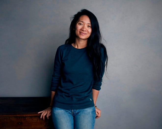 In this Jan. 22, 2018, file photo, Chloe Zhao poses for a portrait during the Sundance Film Festival in Park City, Utah.