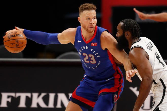 Blake Griffin (23) plans to sign on with James Harden and the Brooklyn Nets, adding frontcourt depth to a team with NBA championship aspirations.