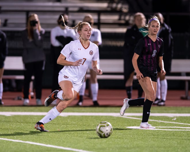 Westwood forward Skylar Zinnecker, playing earlier this month against Round Rock, recalls having fun at the Lone Star Junior Academy at the Town and Country Fields.