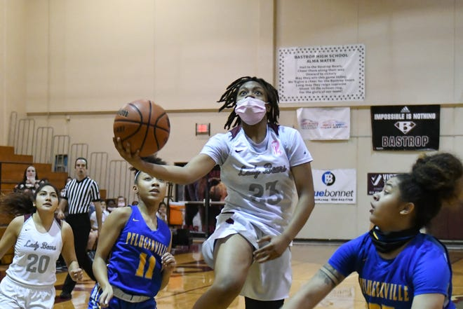 Bastrop's Jaleah Colter was the only local girls player to make the 18-5A all-district first team.