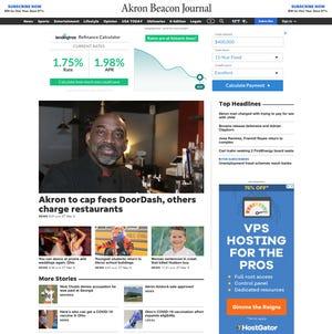 The Akron Beacon Journal website