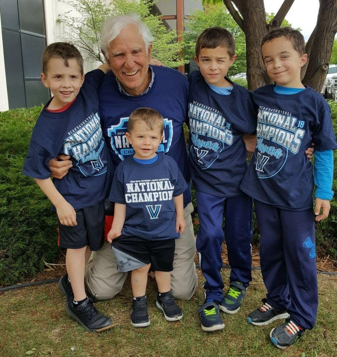 Joseph Mladinich with his grandsons