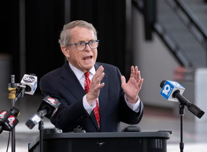 Ohio Gov. Mike DeWine lays out reasoning for Tuesday's veto of Senate Bill 22, which would have limited the power of the executive branch to issue states of emergencies and health orders like mask mandates.