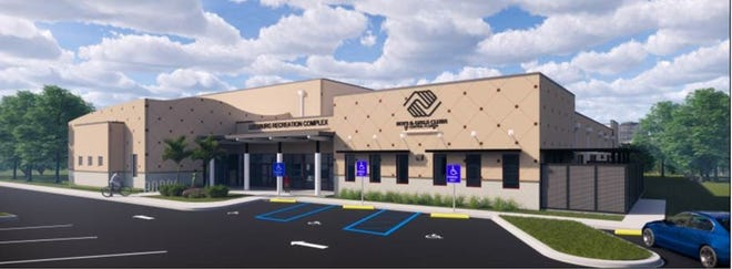 A rendering of the City of Leesburg's Teen Center.