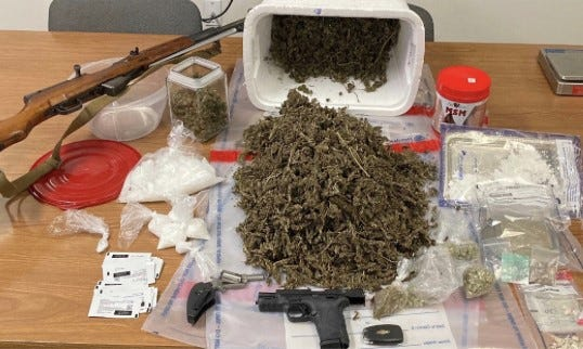 Authorities say they seized a large amount of drugs from Argenis Samuel Rivera Alicea's home.