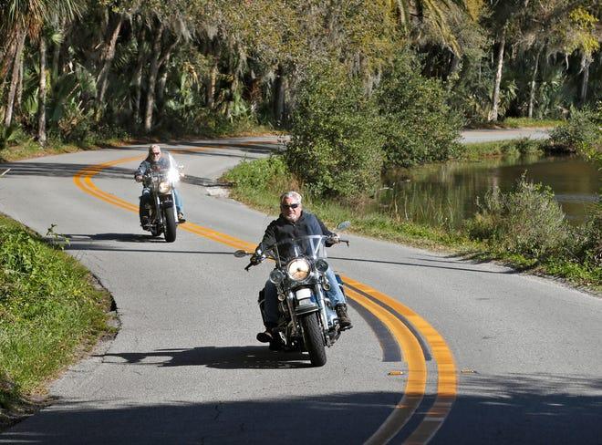 Motorcycle riders cruising the Loop during this year's Bike Week.