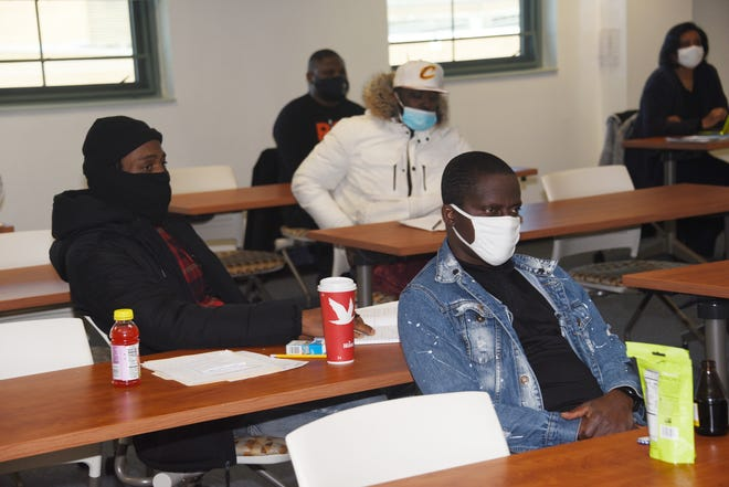 Kent County participants receive instruction in the newly created Delaware Pathways 2 Apprenticeships Program being held on Delaware State University's main campus.